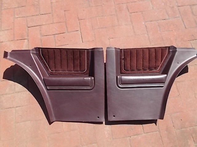 Burgundy Lower Sail Panels w/ Velour Inserts 1