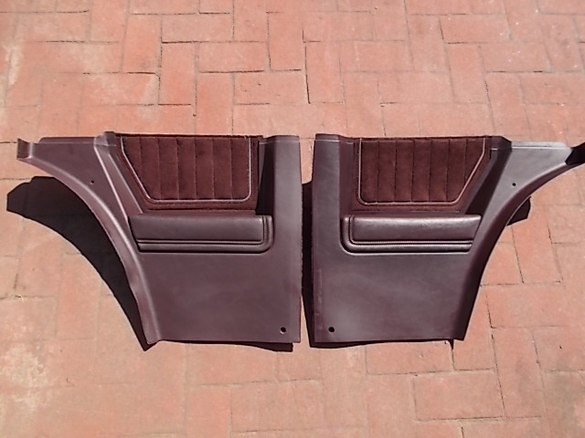 Burgundy Lower Sail Panels w/ Velour Inserts 2