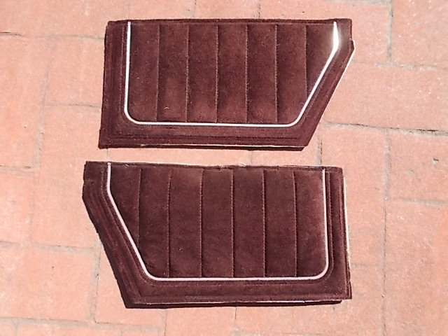 Burgundy Velour Lower Sail Panel Inserts